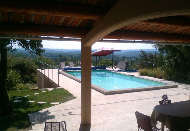 Villa in Cotignac - NEW : Ti Caz La : fantastic holiday house, 10 guests, private pool &  jacuzzi